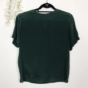 Anna and Frank 100% Silk Green Blouse